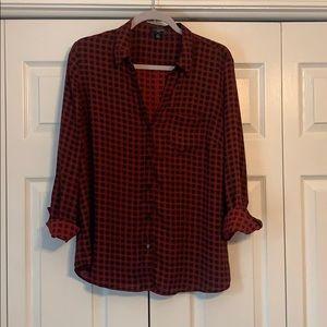 The Limited Ashton checkered blouse, size XL